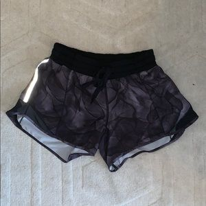 Black/gray Lululemon running shorts